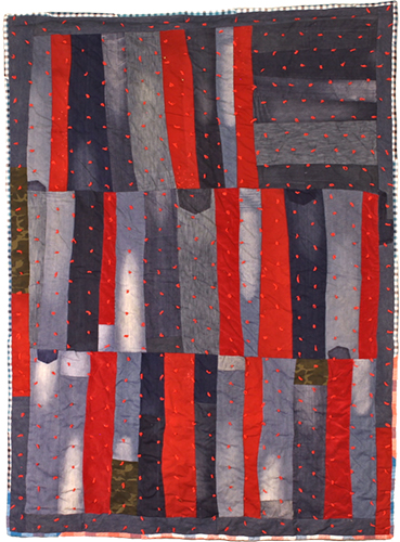 East 20th Street (Flag)  was the first quilt james matthews created in what became his  eviction quilts  series.
