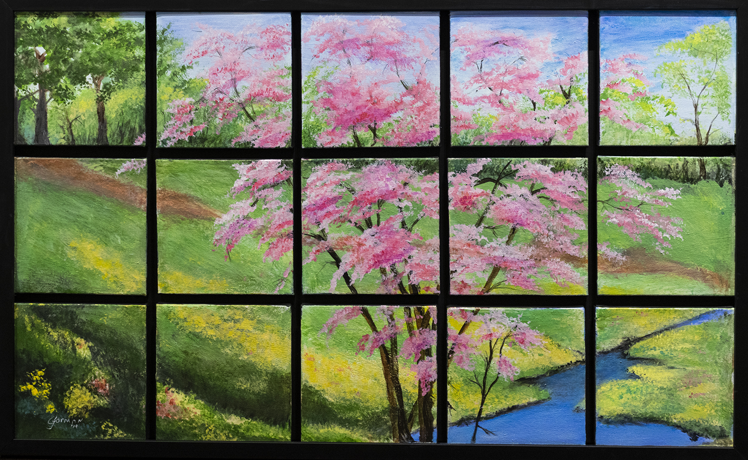 Dell Gorman,  Window With A View , acrylic. 2019 Second Place.
