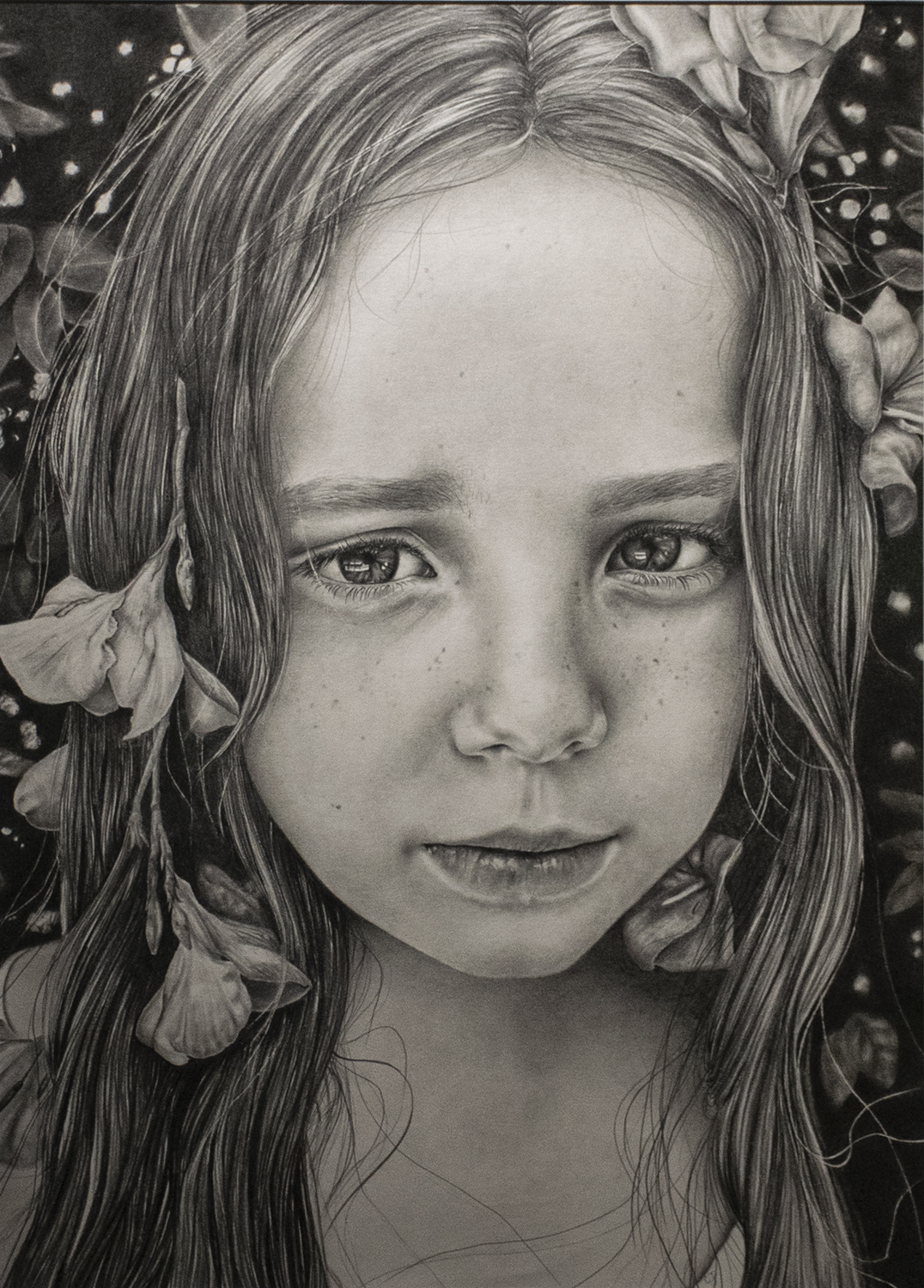 "Crystal Jennings' graphite drawing ""Lily"" was awarded Best in Show in the 2019 Pine Bluff Art League Annual Exhibition."
