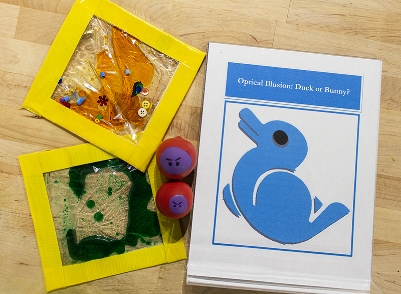 Tinkerfest 2019 visitors can make their own sensory gel pad, explore optical illusions, and make their own fun stress balls.
