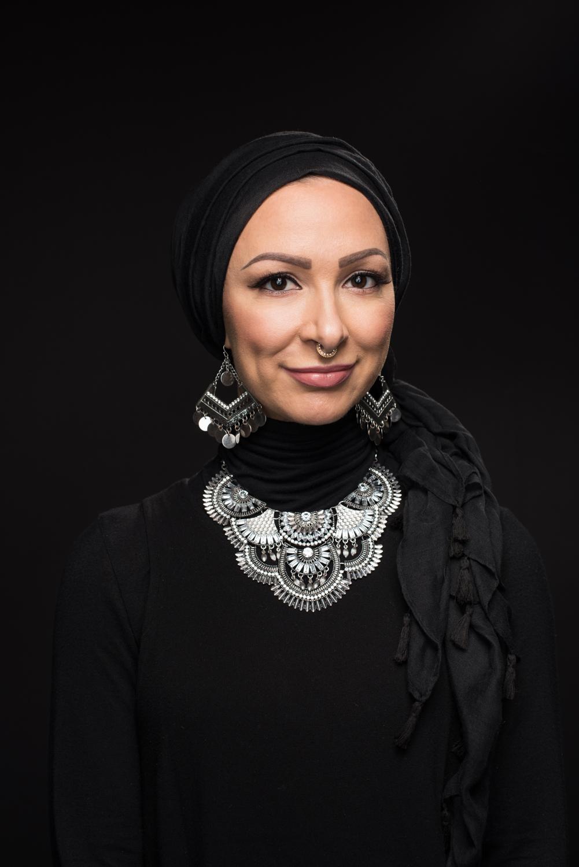 Portrait of Amirah Sackett a Muslim hip hop artist in Chicago