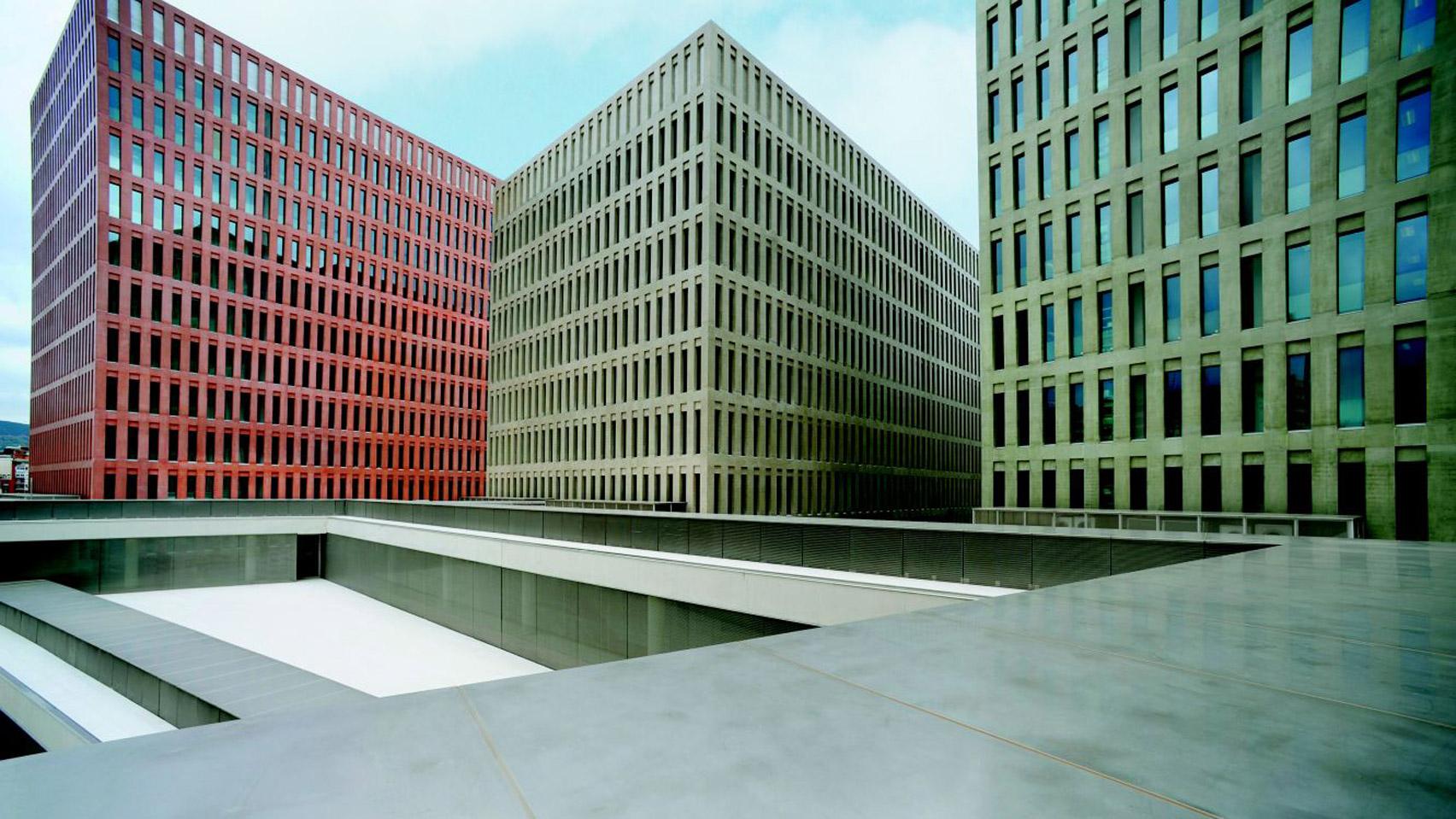 David Chipperfield's 'Ciutat de la Justicia' which won the Coloured Concrete Works Award in 2018