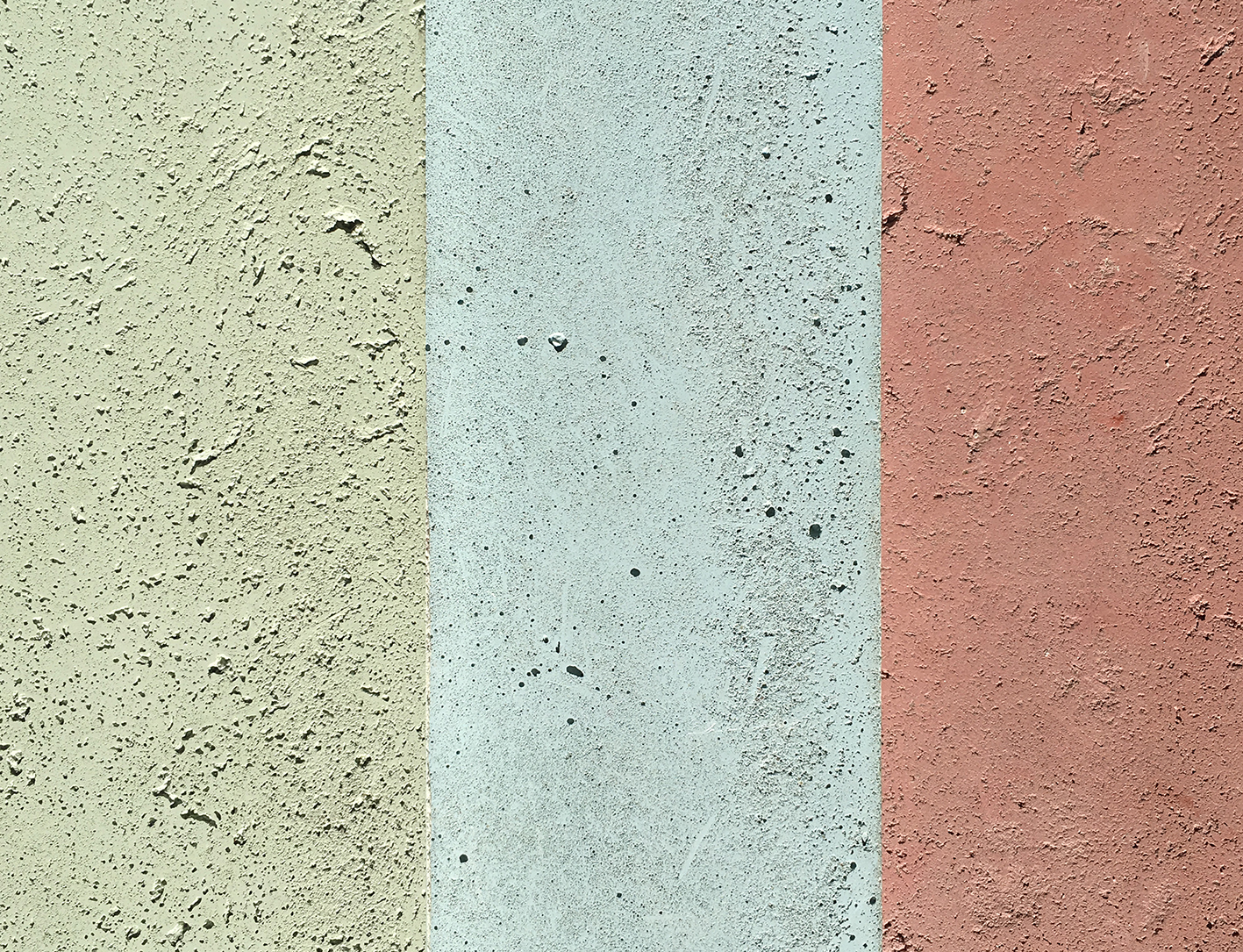 Coloured concrete samples from Forma Studios