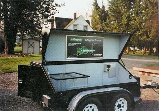 Chopper Pump Demo Trailer. We will come to your site for a free demonstration!
