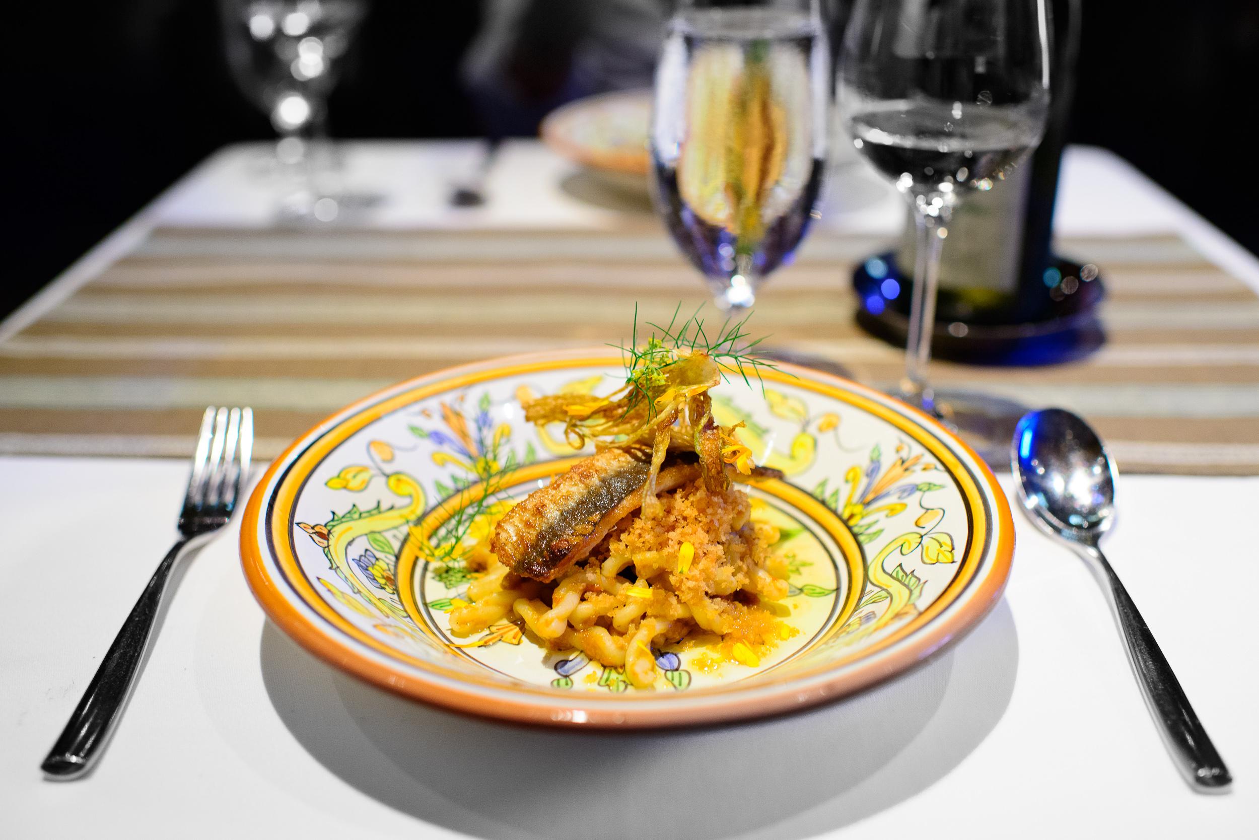Gemelli con le Sarde (paired pasta twists) / Next: Sicily, Chicago, Illinois, United States
