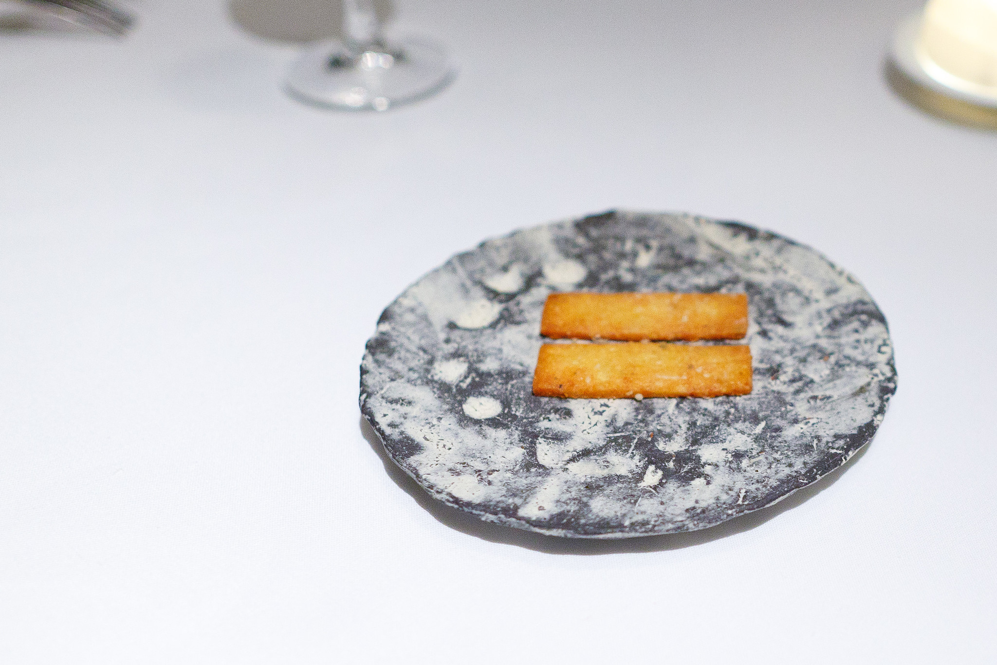 1st Course - Roquefort cheese sablé