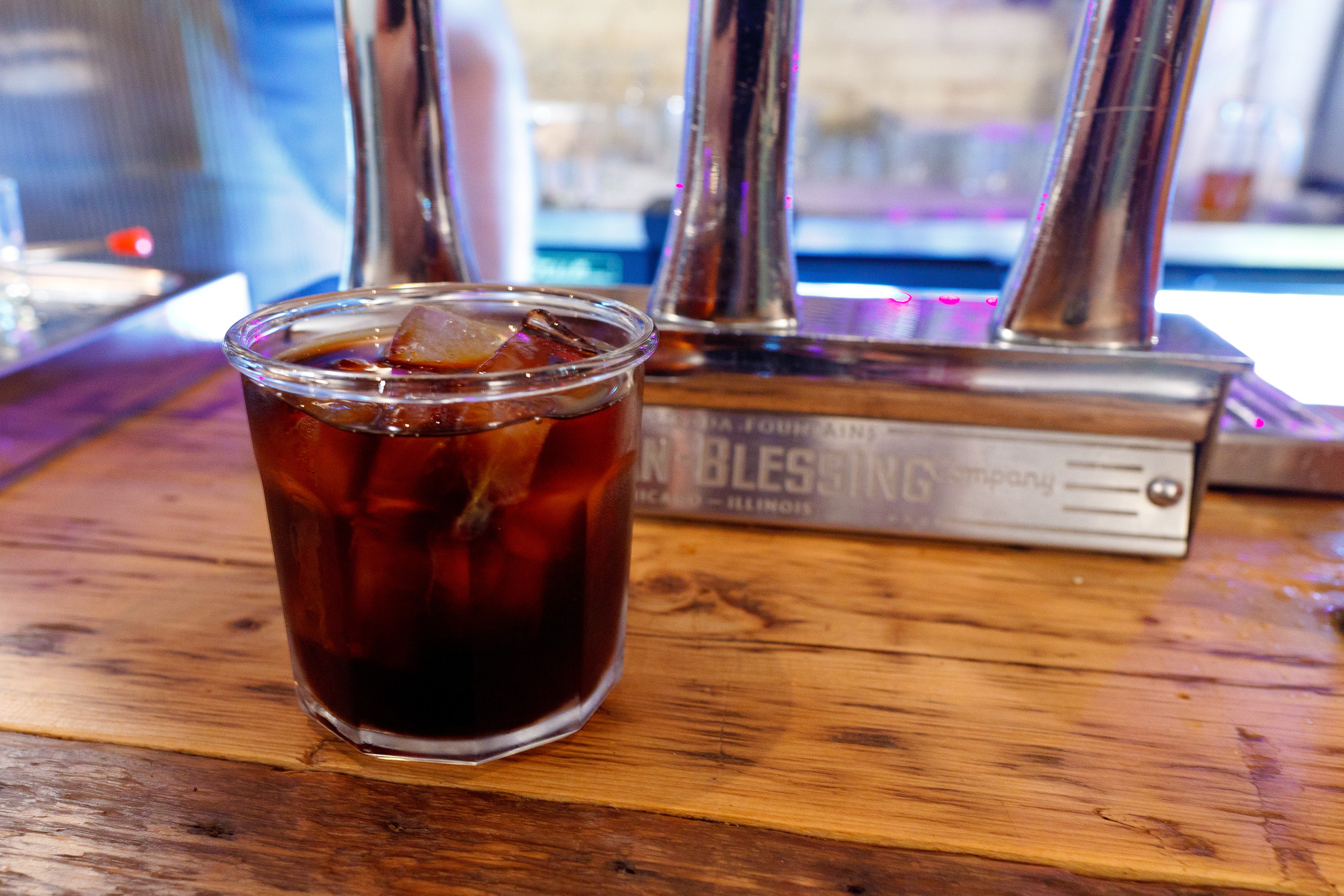 Cold brew coffee on tap