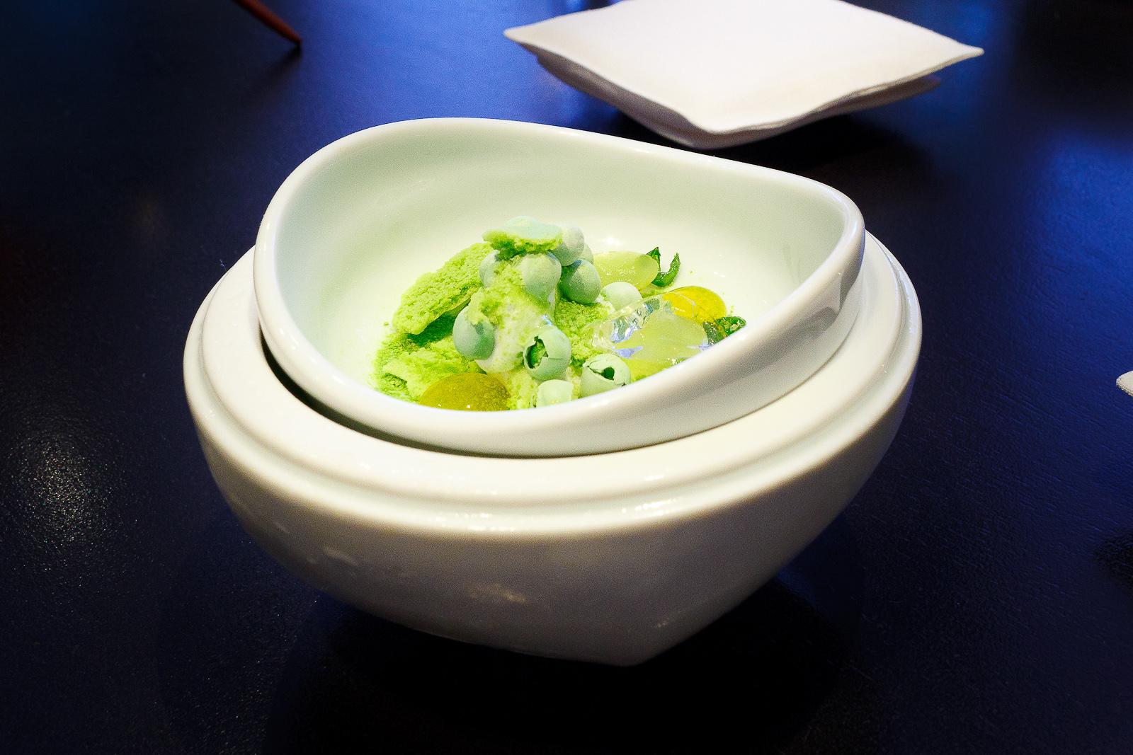 Part II - English pea, olive oil, chamomile, green apple