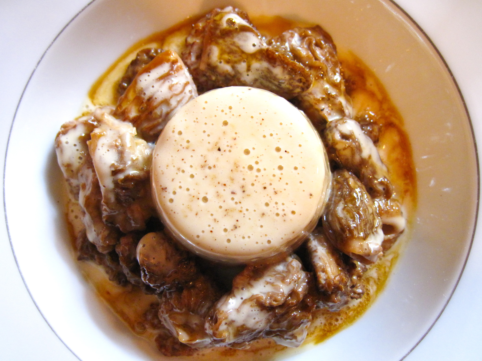 Daviole de foie gras aux morilles