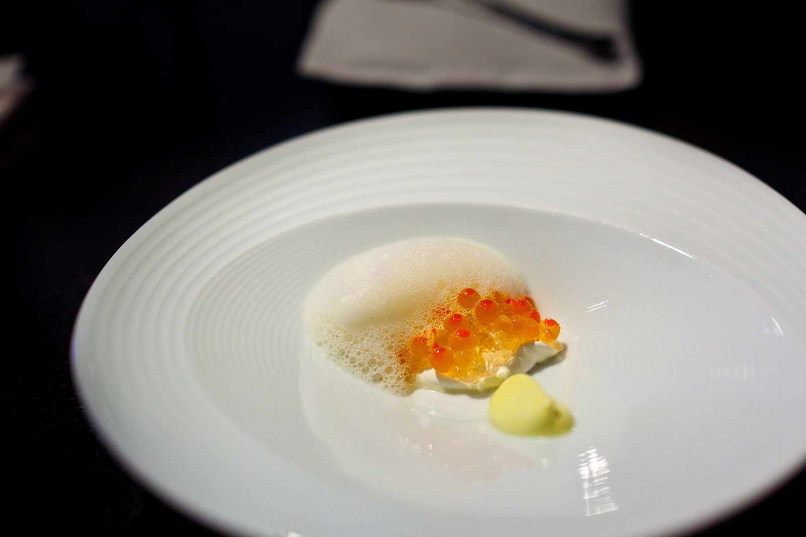Alinea Chicago Roes traditional garnish
