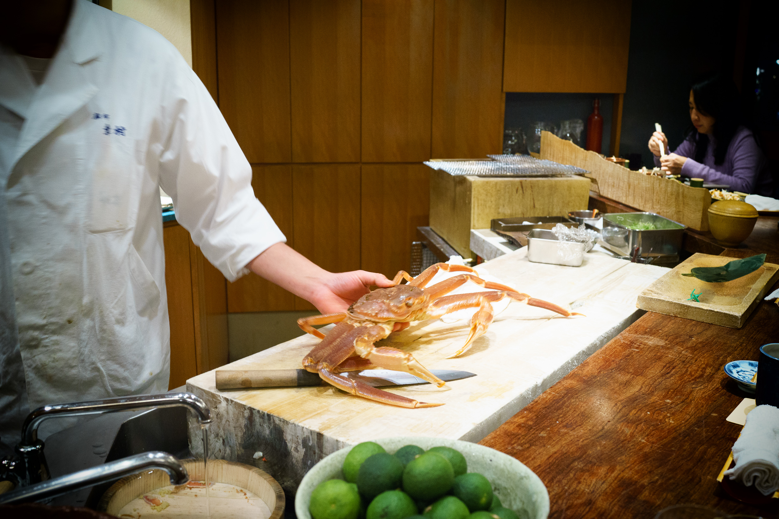 Live snow crab from Kyoto