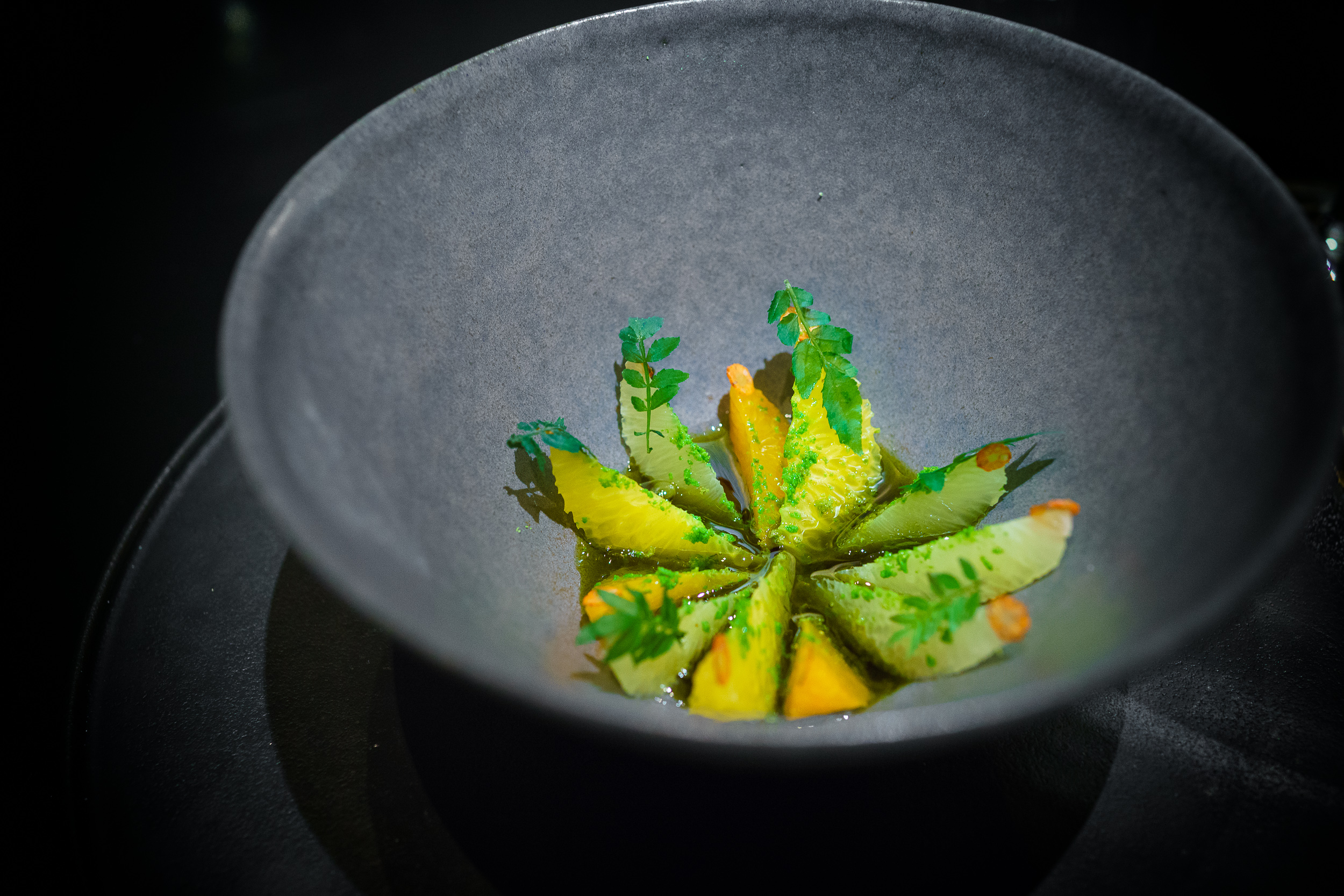 3rd Course: Citrus and long pepper
