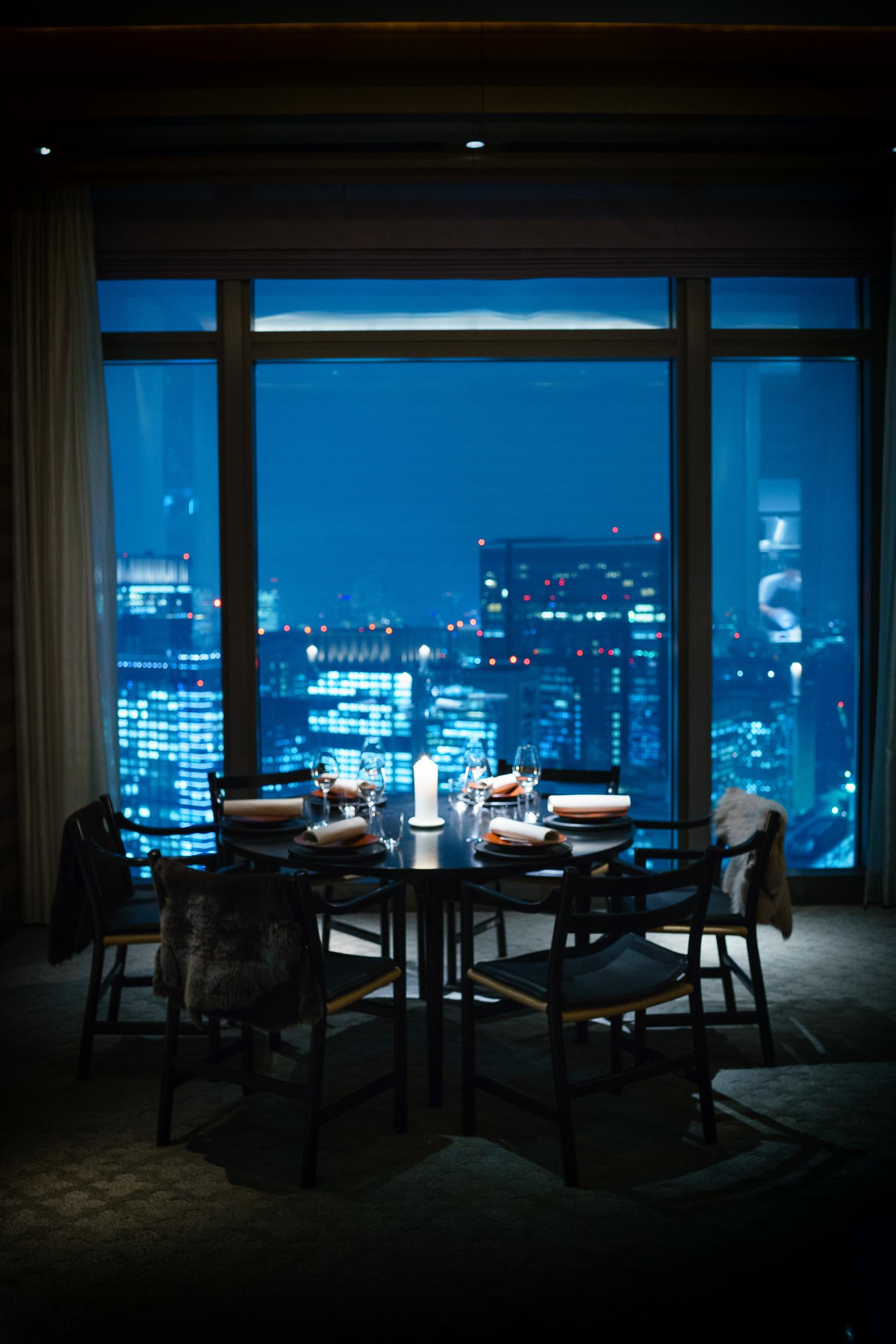 The scene for Noma, Tokyo at the Mandarin Oriental