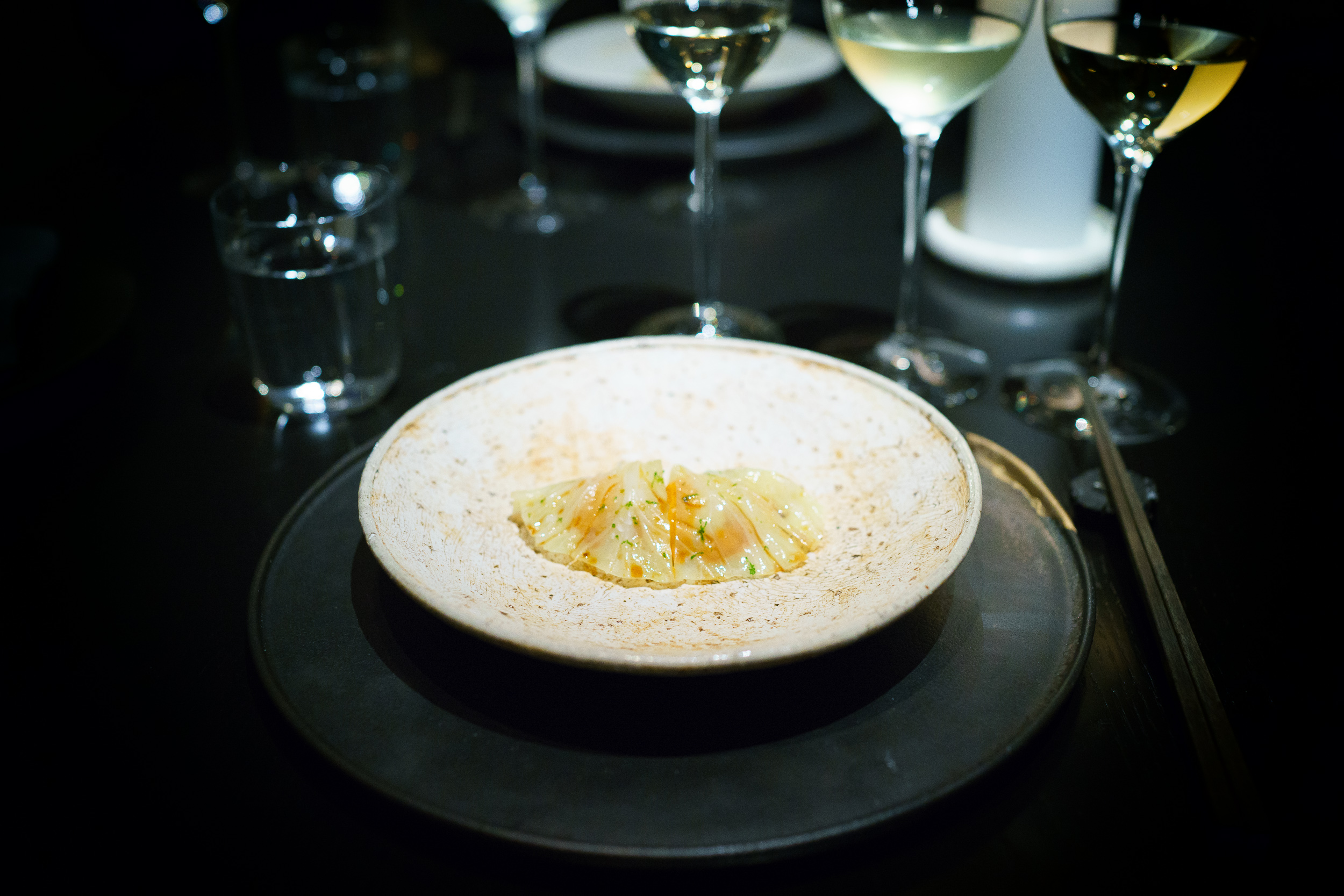 8th Course: Sea urchin and cabbage