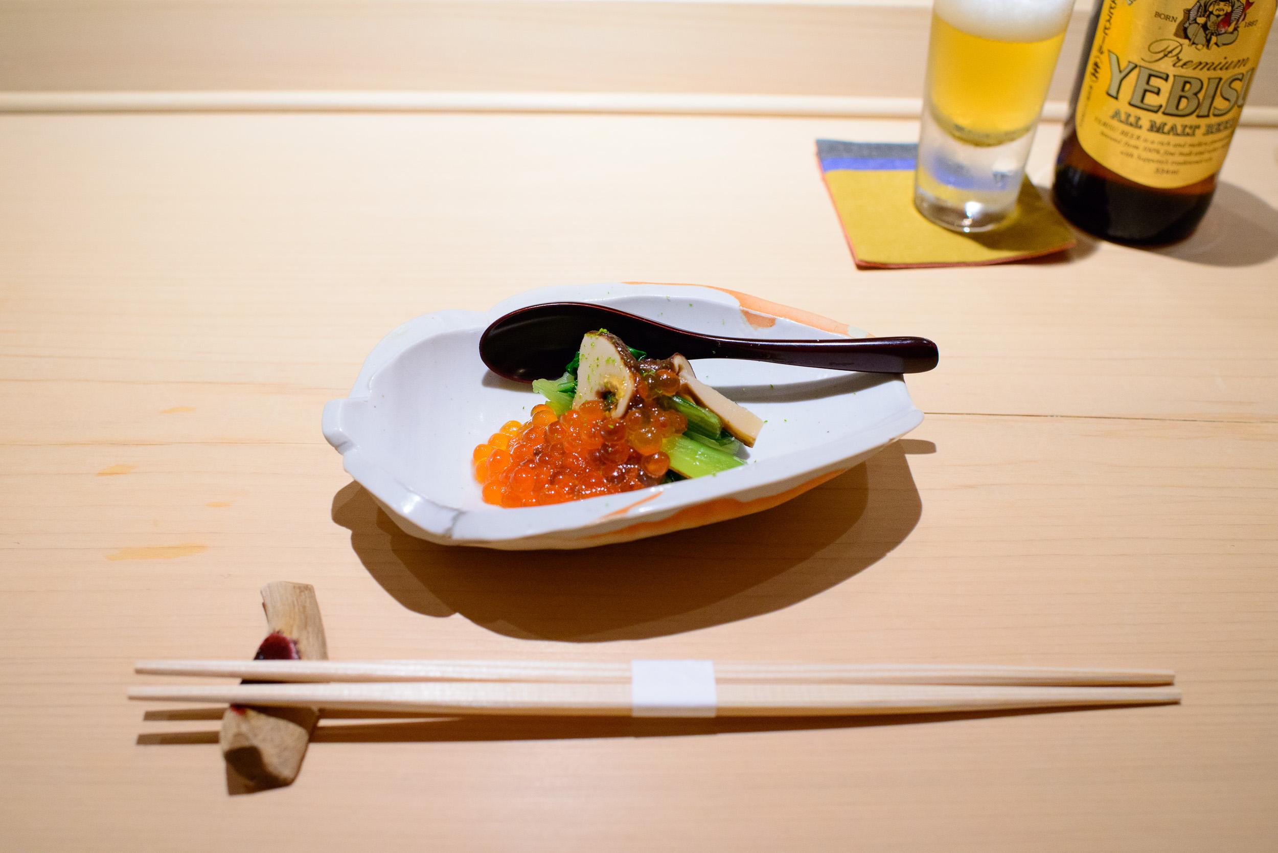 1st Course: Ikura, matsutake