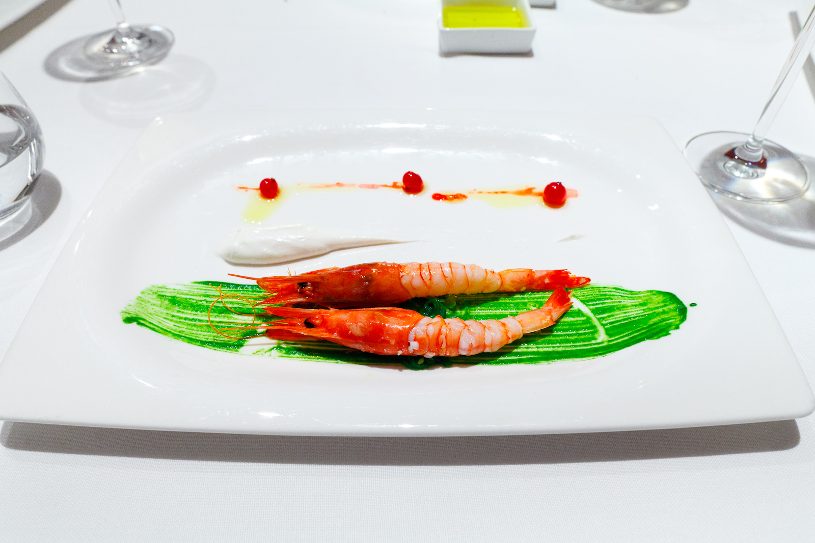 Hisop, Spain - King prawns with almonds and tarragon