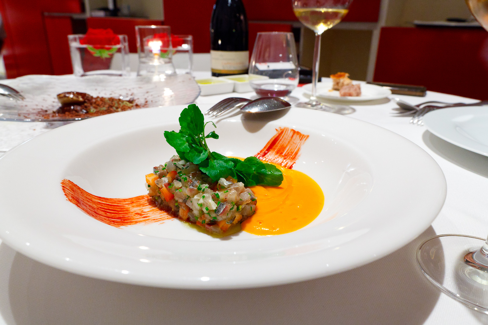 Hisop, Spain - Sardine tartar with tomatoes and prunes