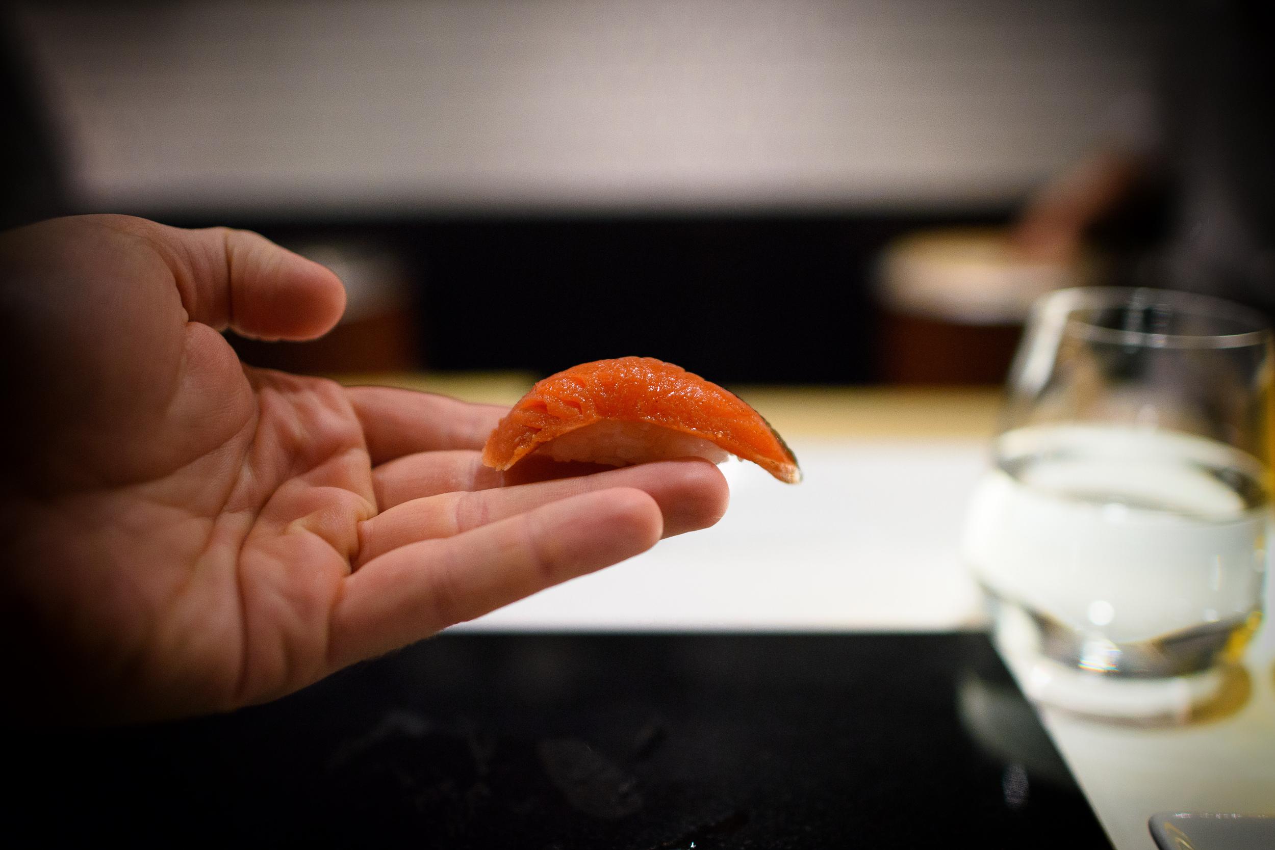 2nd Course: Wild house-smoked sockeye salmon from Alaska