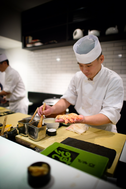 11th Course: Kuruma ebi (white-legged prawn)