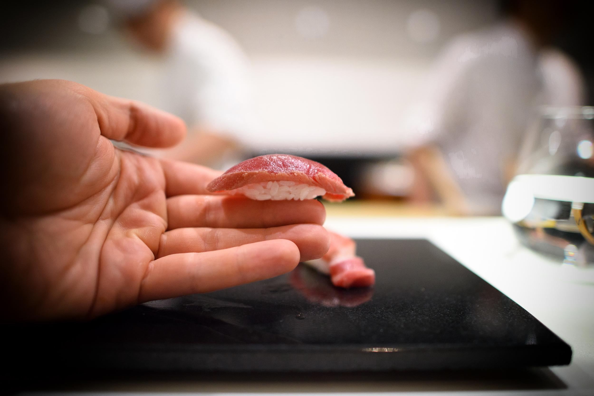 15th Course: Soy-marinated tuna (maguro no zuke)