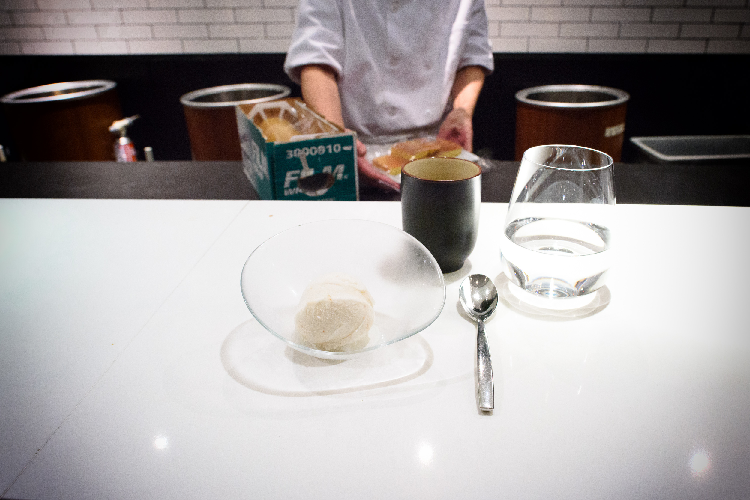 22nd Course: Lychee Ice Cream