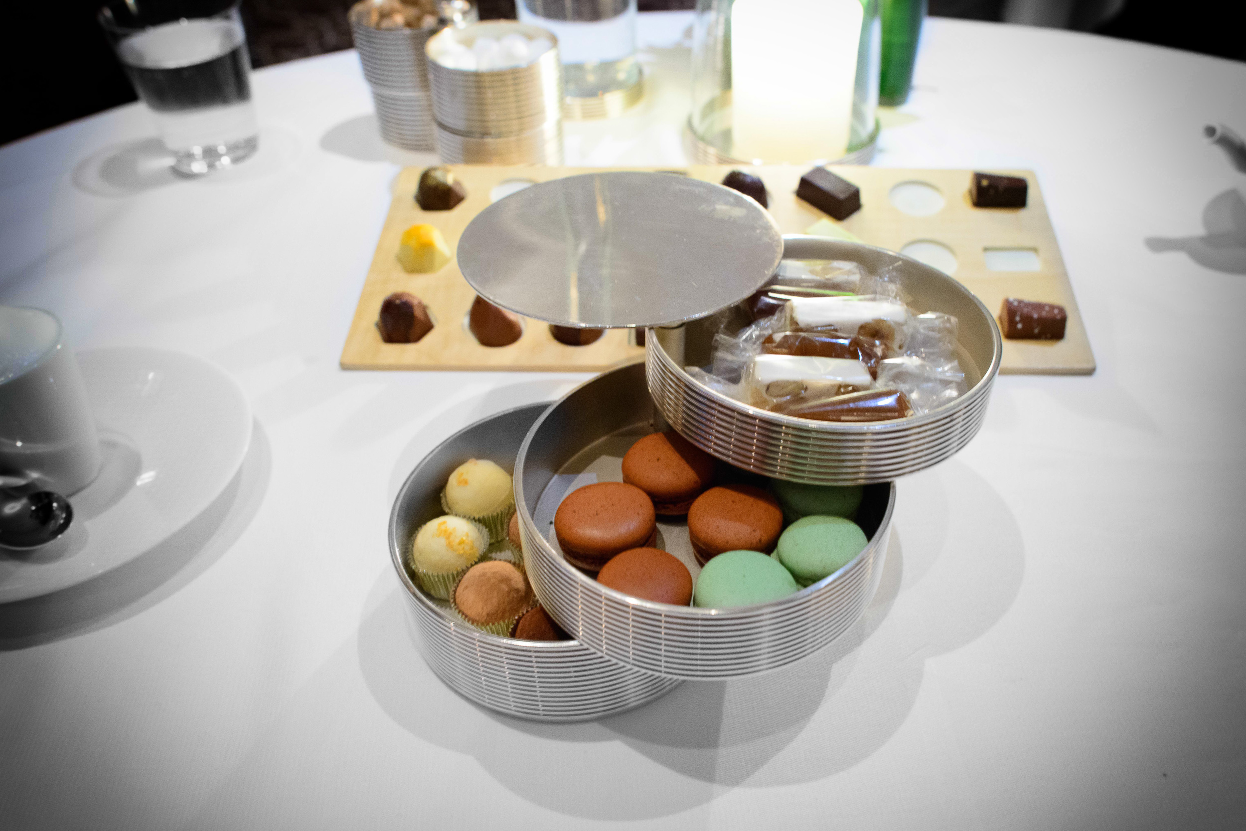 22nd Course: Macarons, nougat, caramel, and truffles