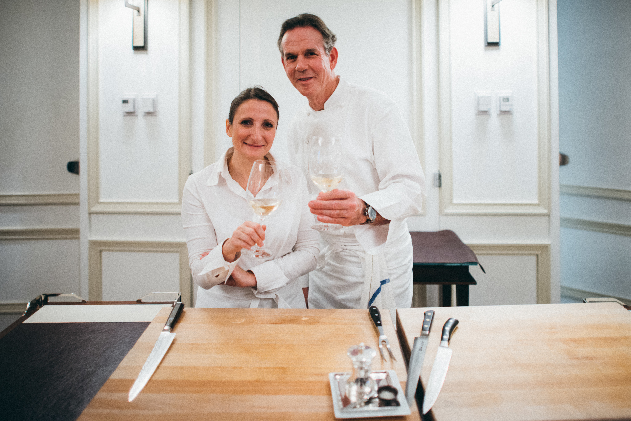 Chefs Anne-Sophie Pic (Maison Pic) and Thomas Keller (Per Se)