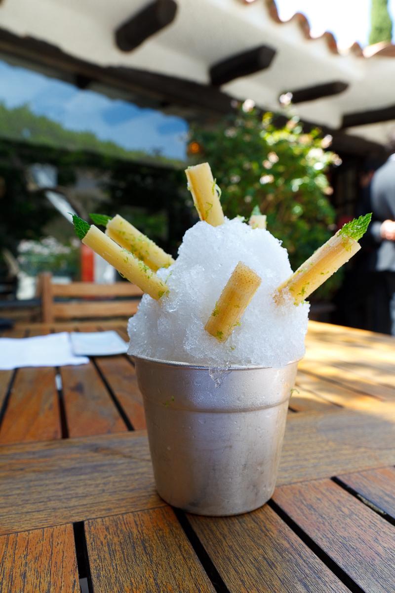El Bulli, Spain - 1st Course: Mojito - Caipirinha sugar cane