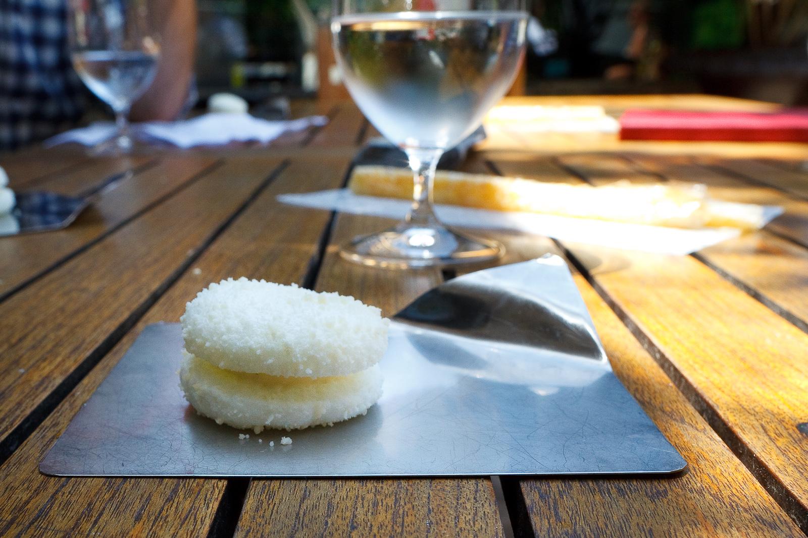El Bulli, Spain - 8th Course: Parmesan cheese macaron
