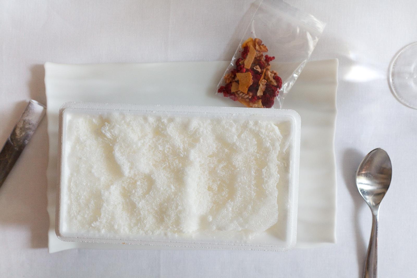 El Bulli, Spain - 21st Course, Part II: Parmesan frozen-air with museli