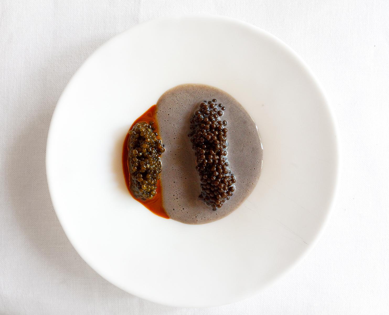 El Bulli, Spain - 23rd Course: Caviar cream with hazelnut caviar