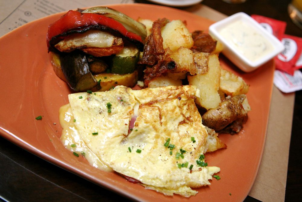 Omelette con Jamon y Queso