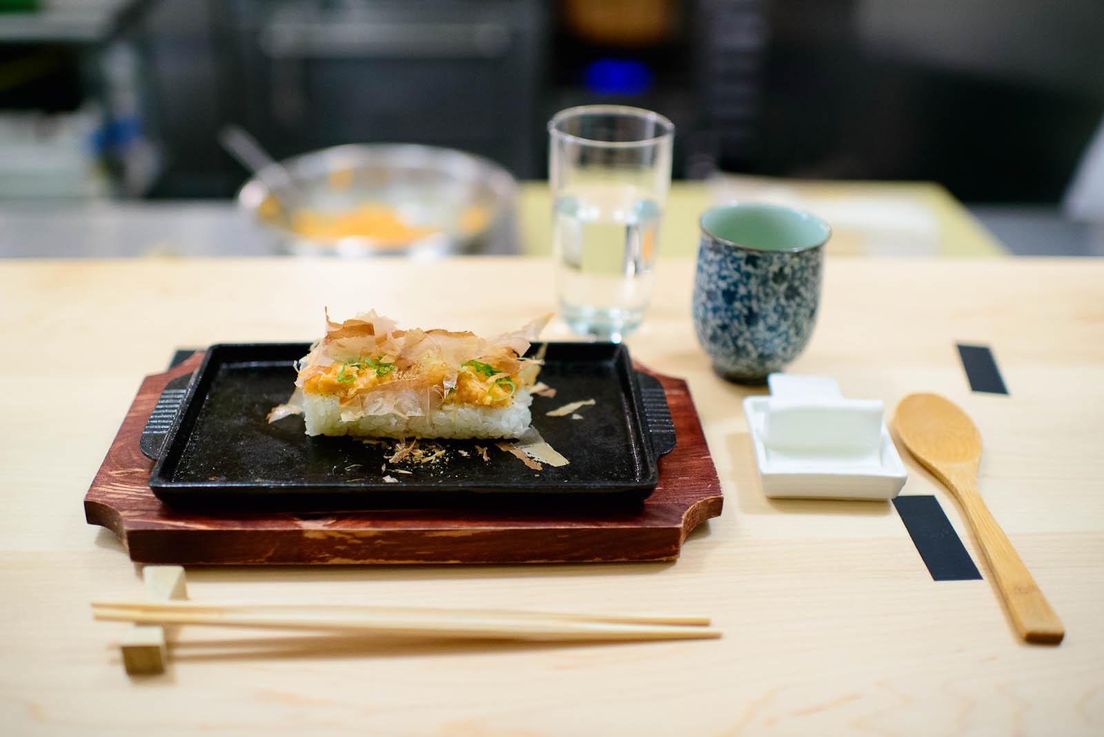 5th Course: Spicy salmon teppanyaki
