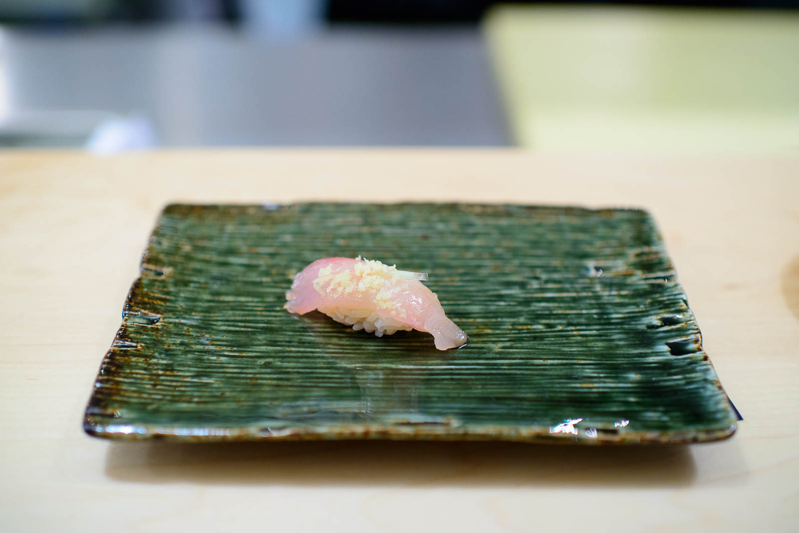 7th Course: Mackerel with crunchy rice