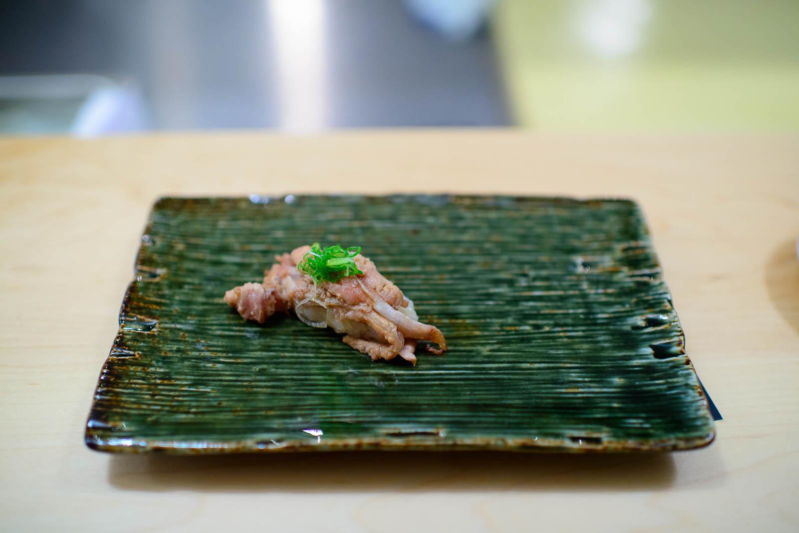 10th Course: Grilled fatty tuna membrane