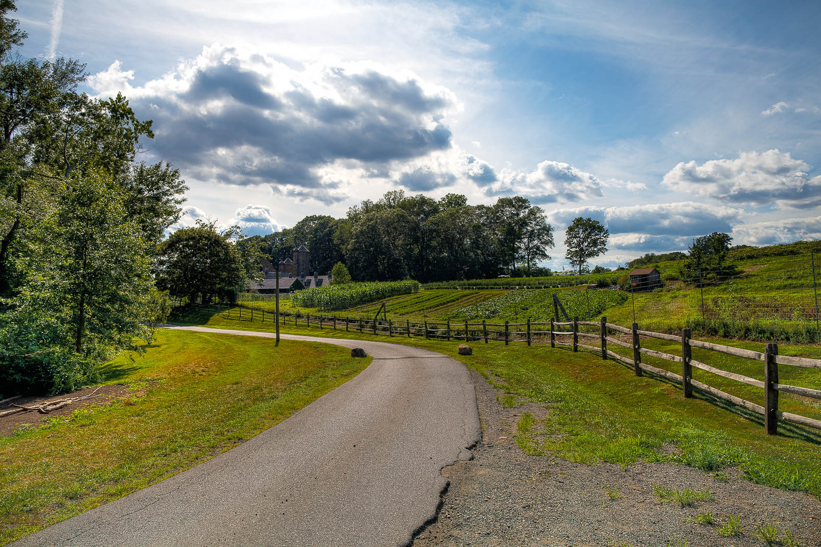 The path to Blue Hill at Stone Barns