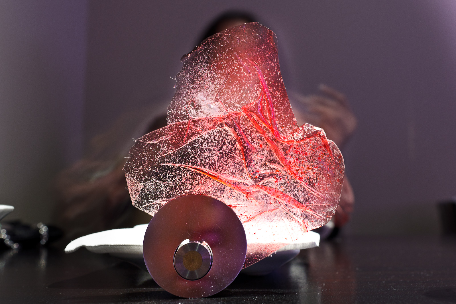 Alinea, Chicago - Transparency of raspberry, yogurt