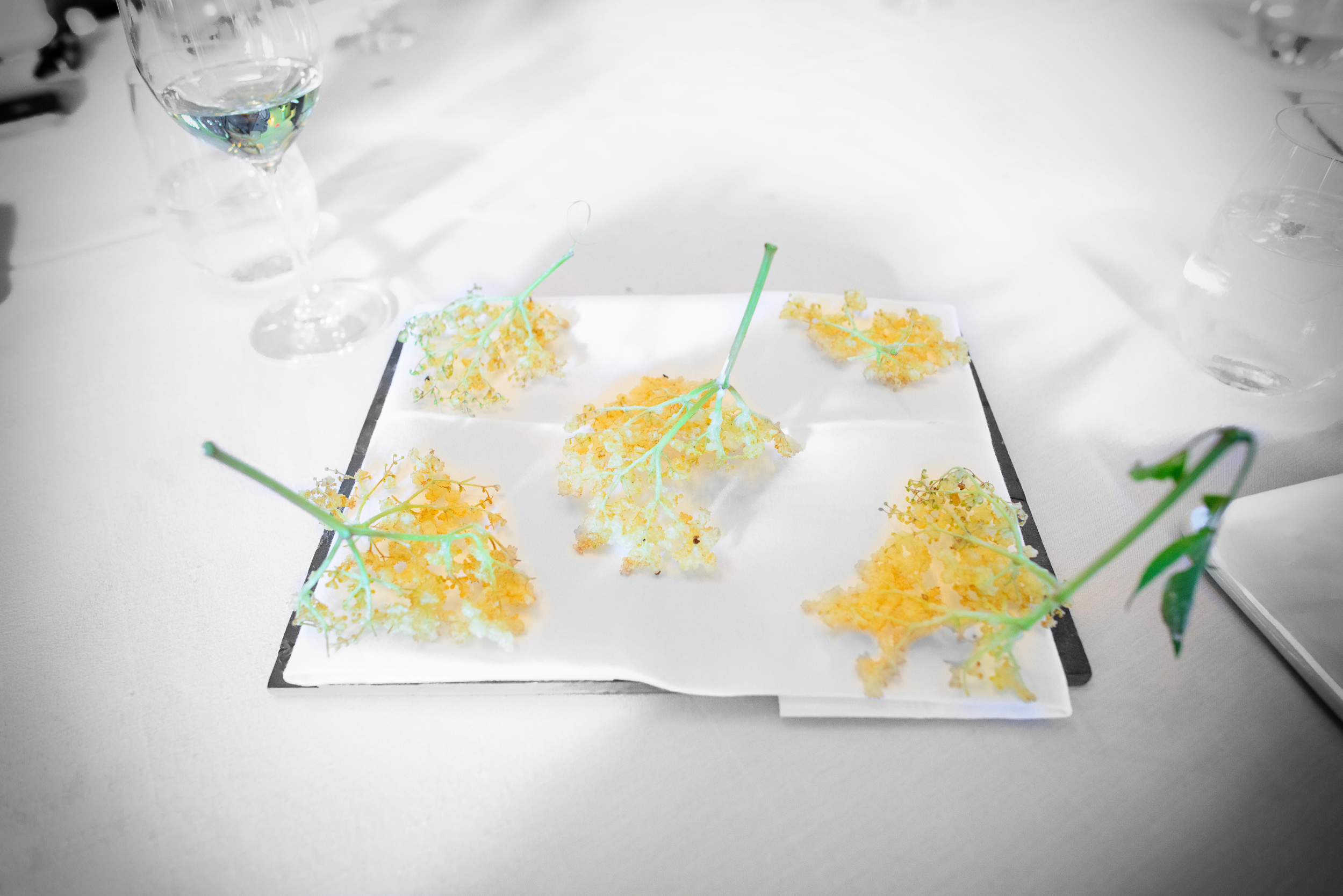 Elderflower tempura