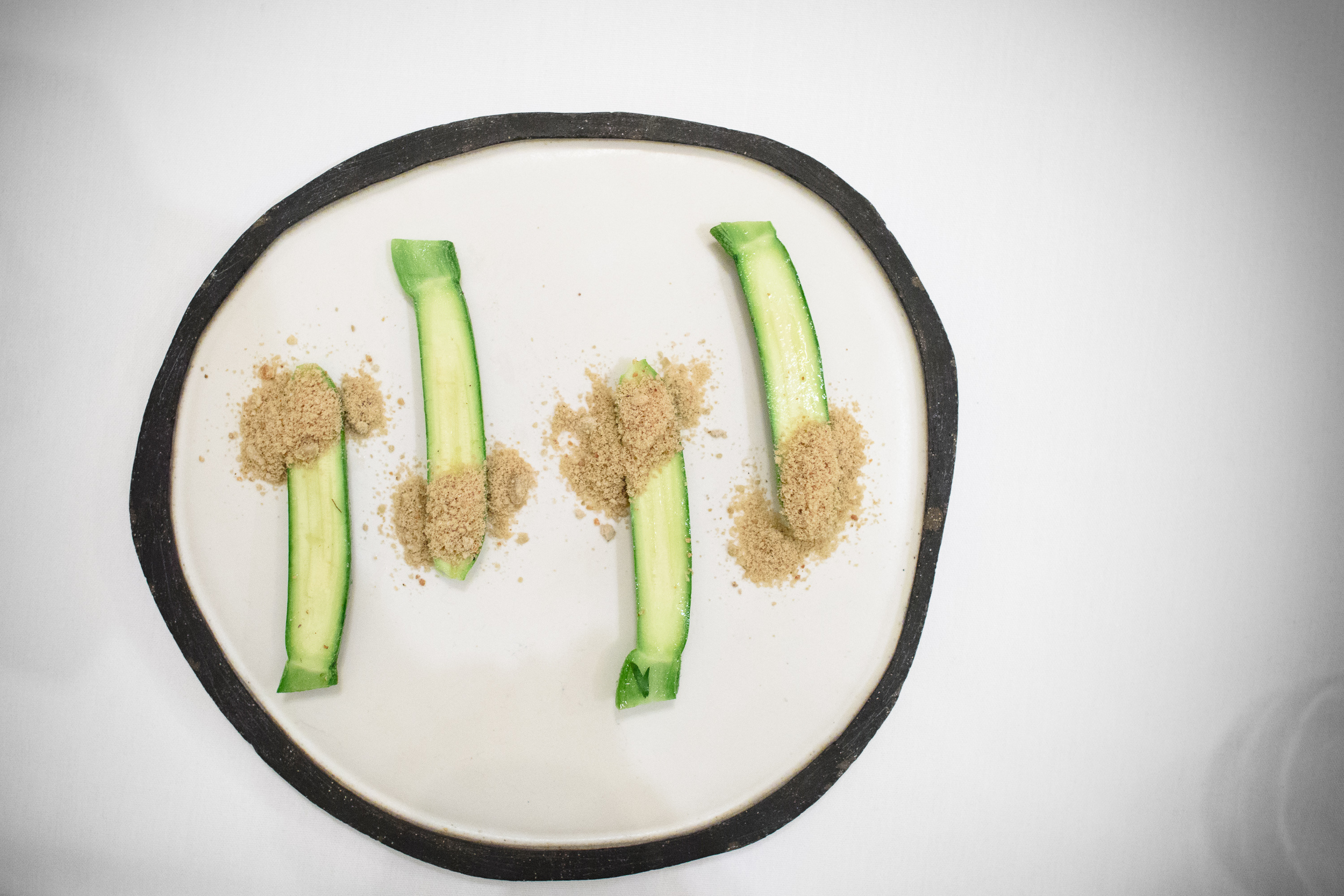 First of the last zucchini with sunflower powder