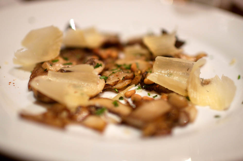 Sautéed Mushrooms in Olive Oil, with Pecorino Cheese and toasted pine nuts