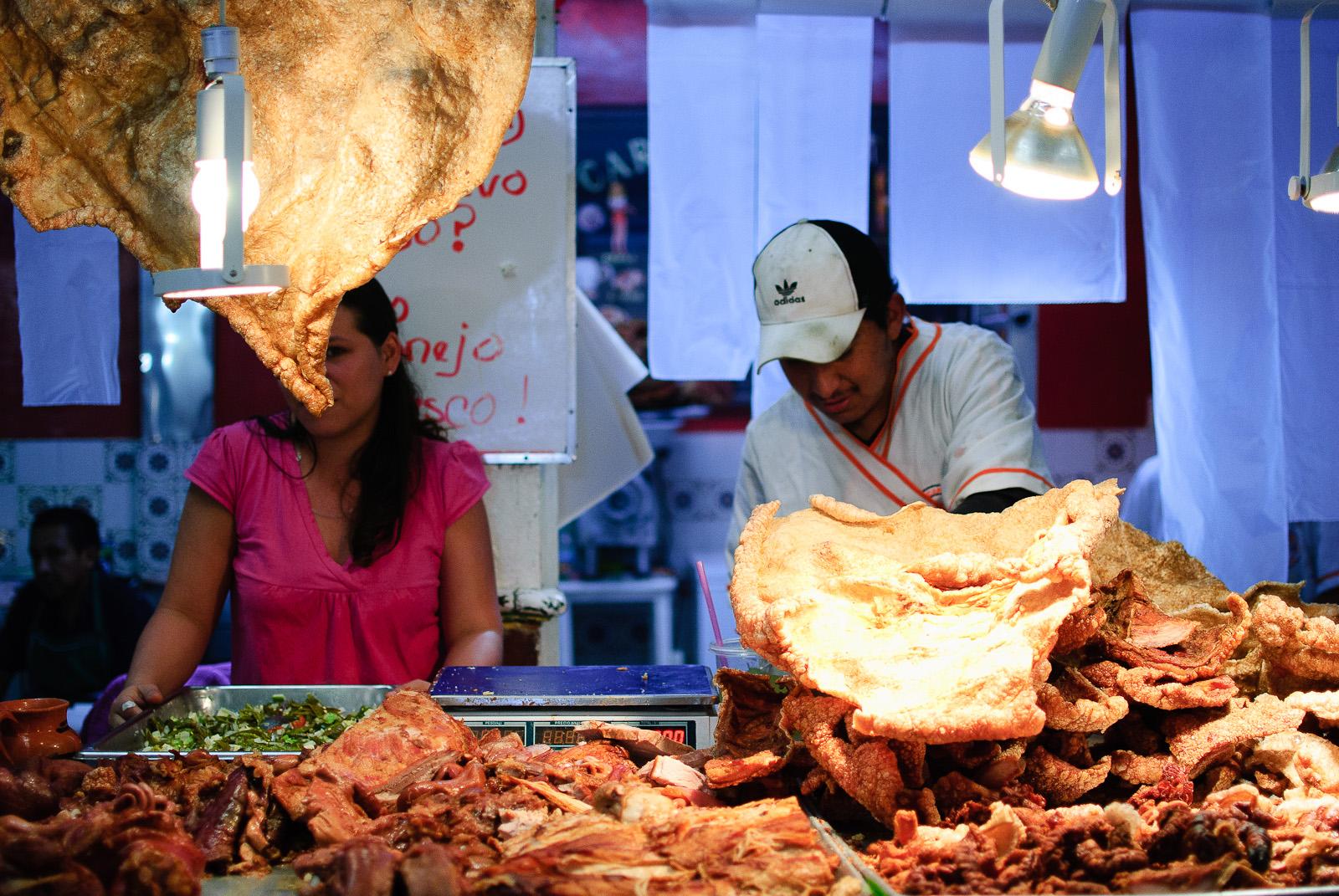 Mercado de Cholula - Chicharron