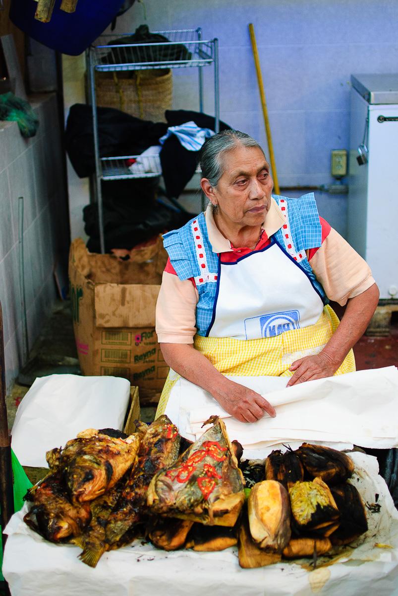 Mercado de Cholula - Tamales de Pescado