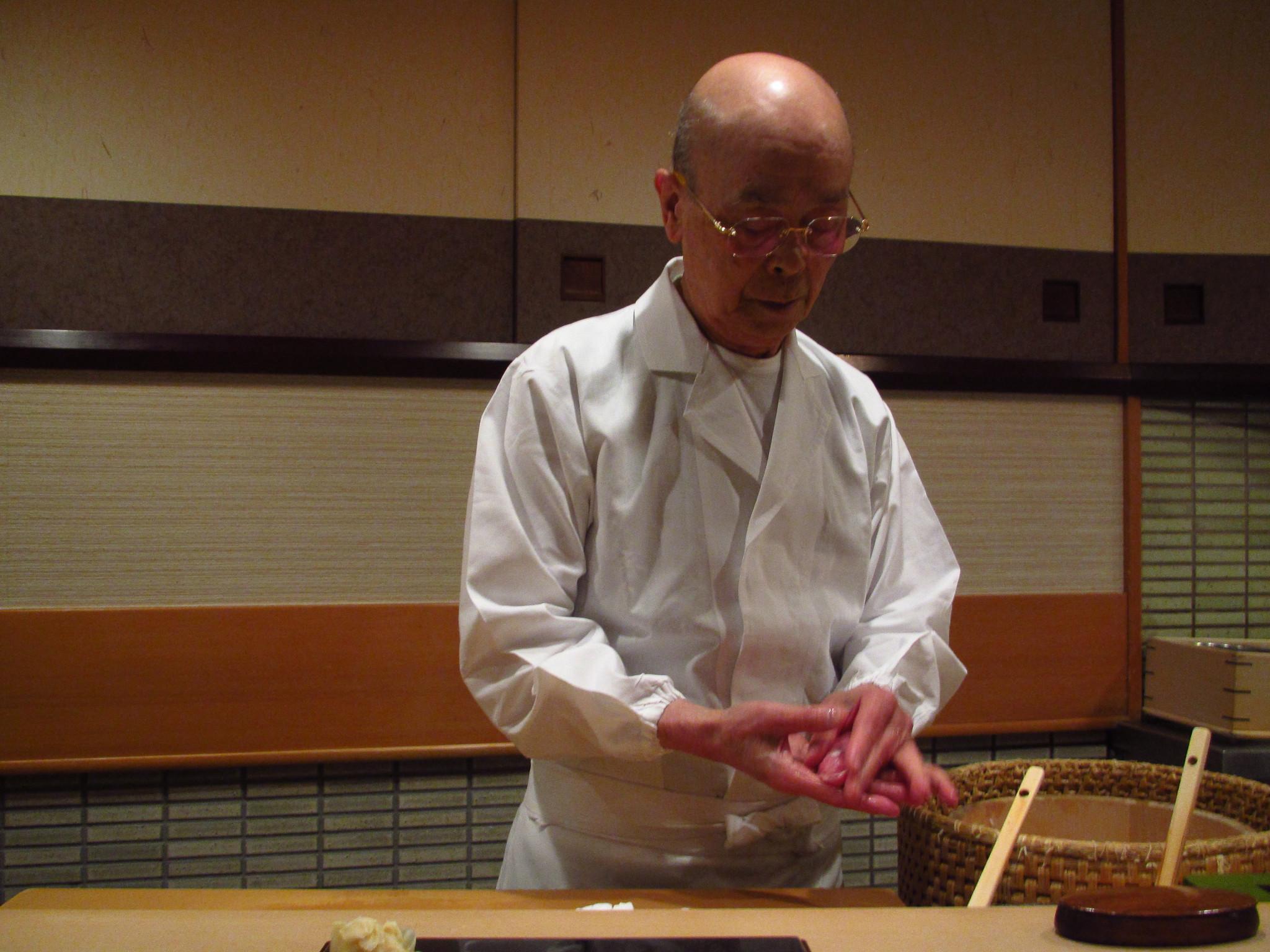 Sukiyabashi Jiro, Ginza, Tokyo - Chef Jiro Ono at Work