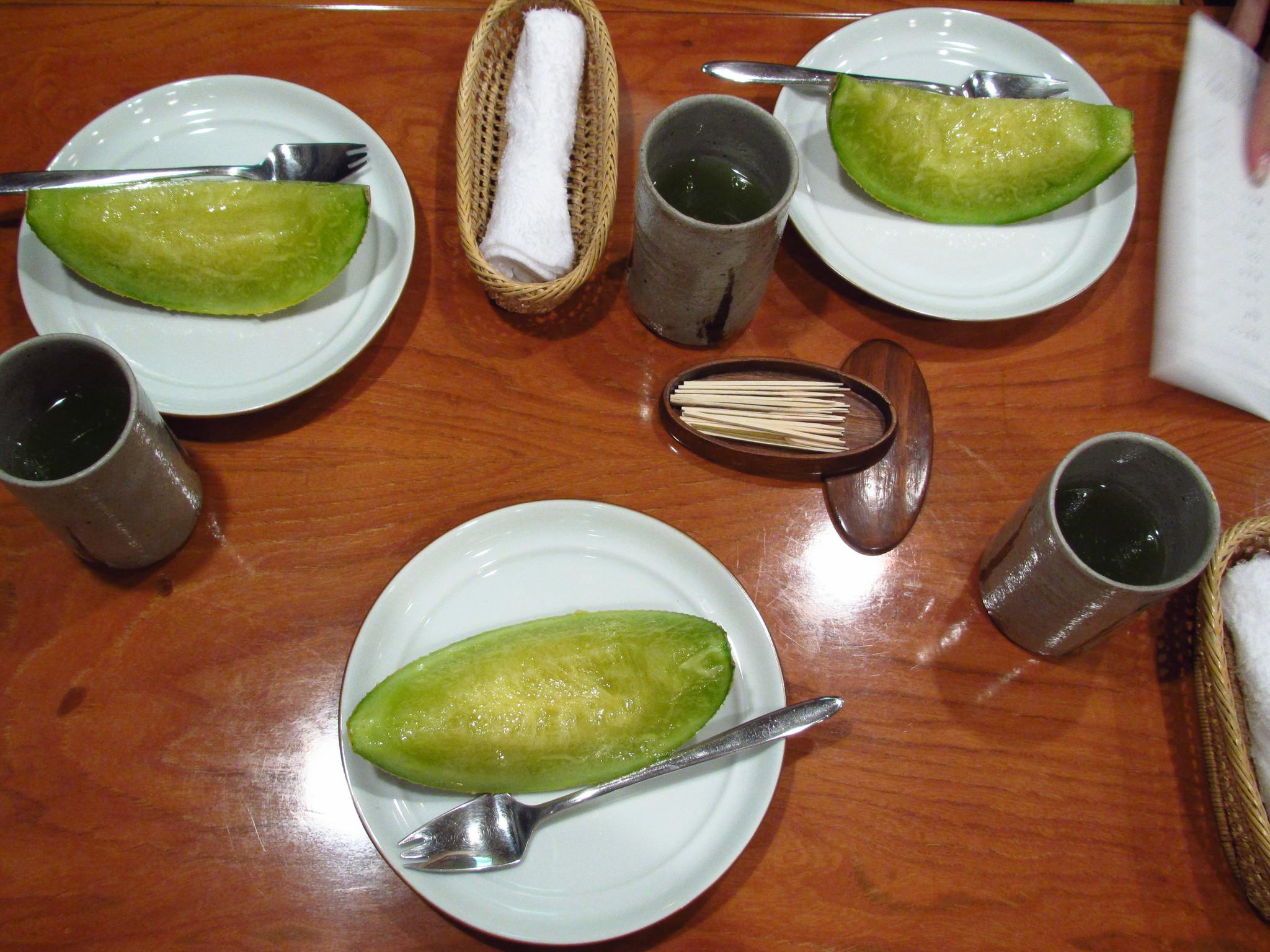 Sukiyabashi Jiro, Ginza, Tokyo - Musk Melon