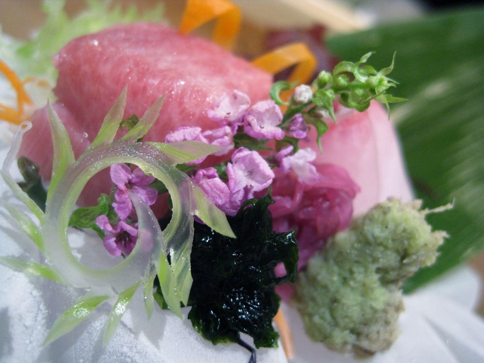 Northeastern US toro, kanpachi, and tai sashimi