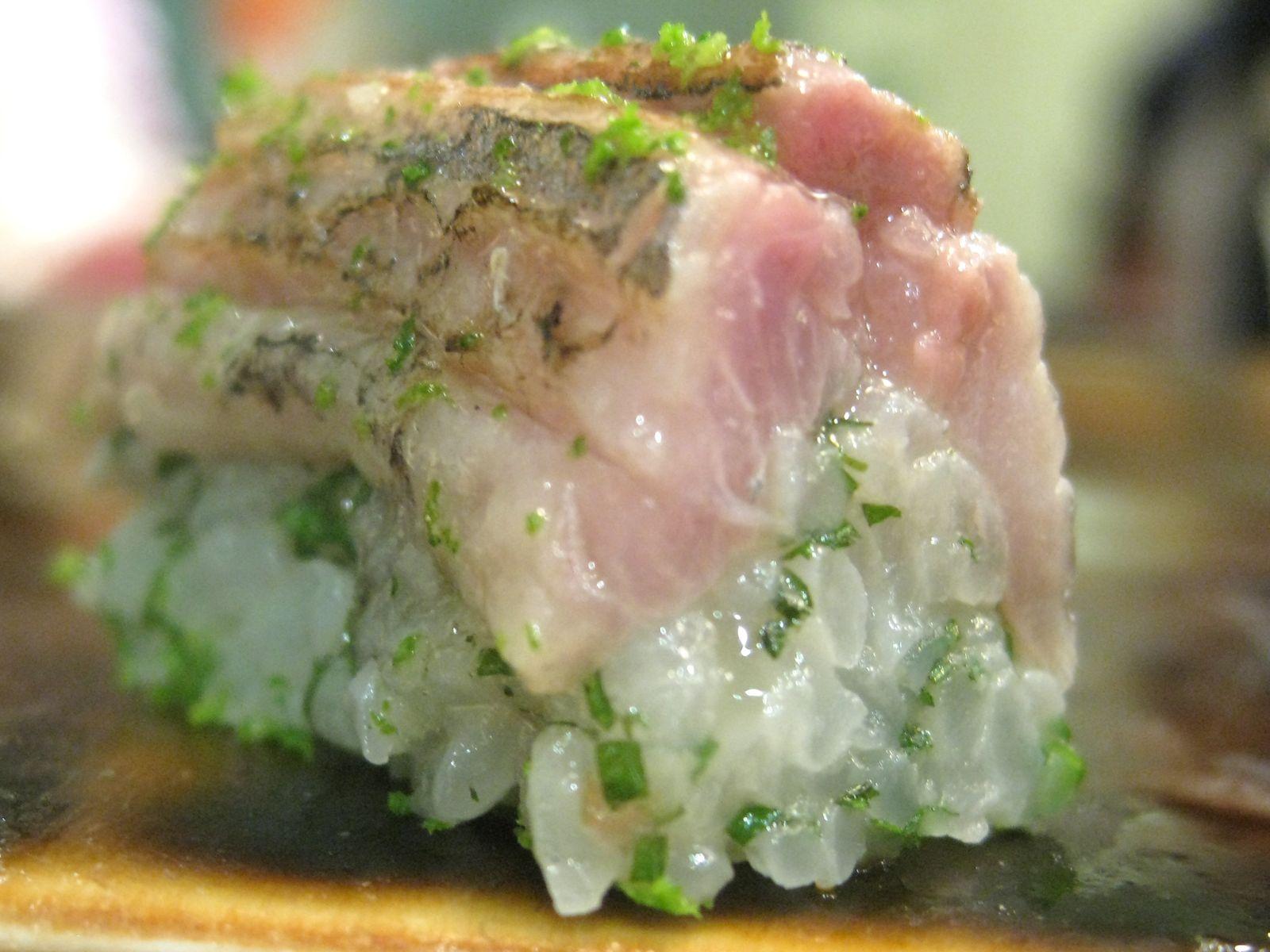 Grilled pike mackerel