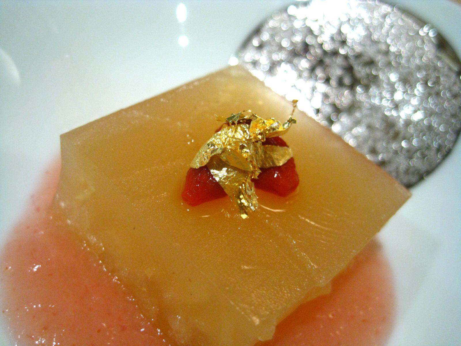 Ume boshi, gogi berries, asian pear gelée