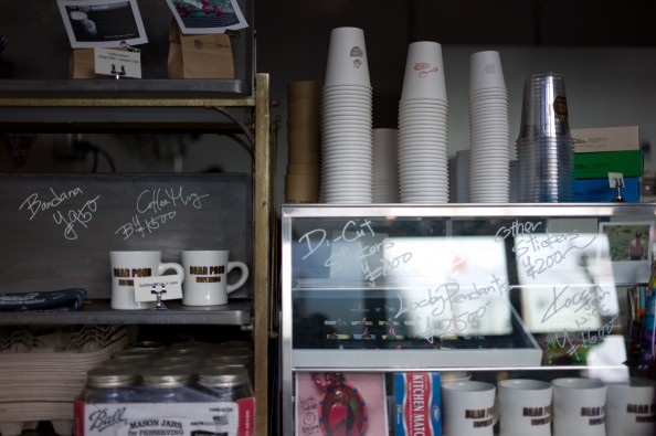 Bear Pond Espresso, Tokyo - Counter. Looks straight from a NYC deli, no?