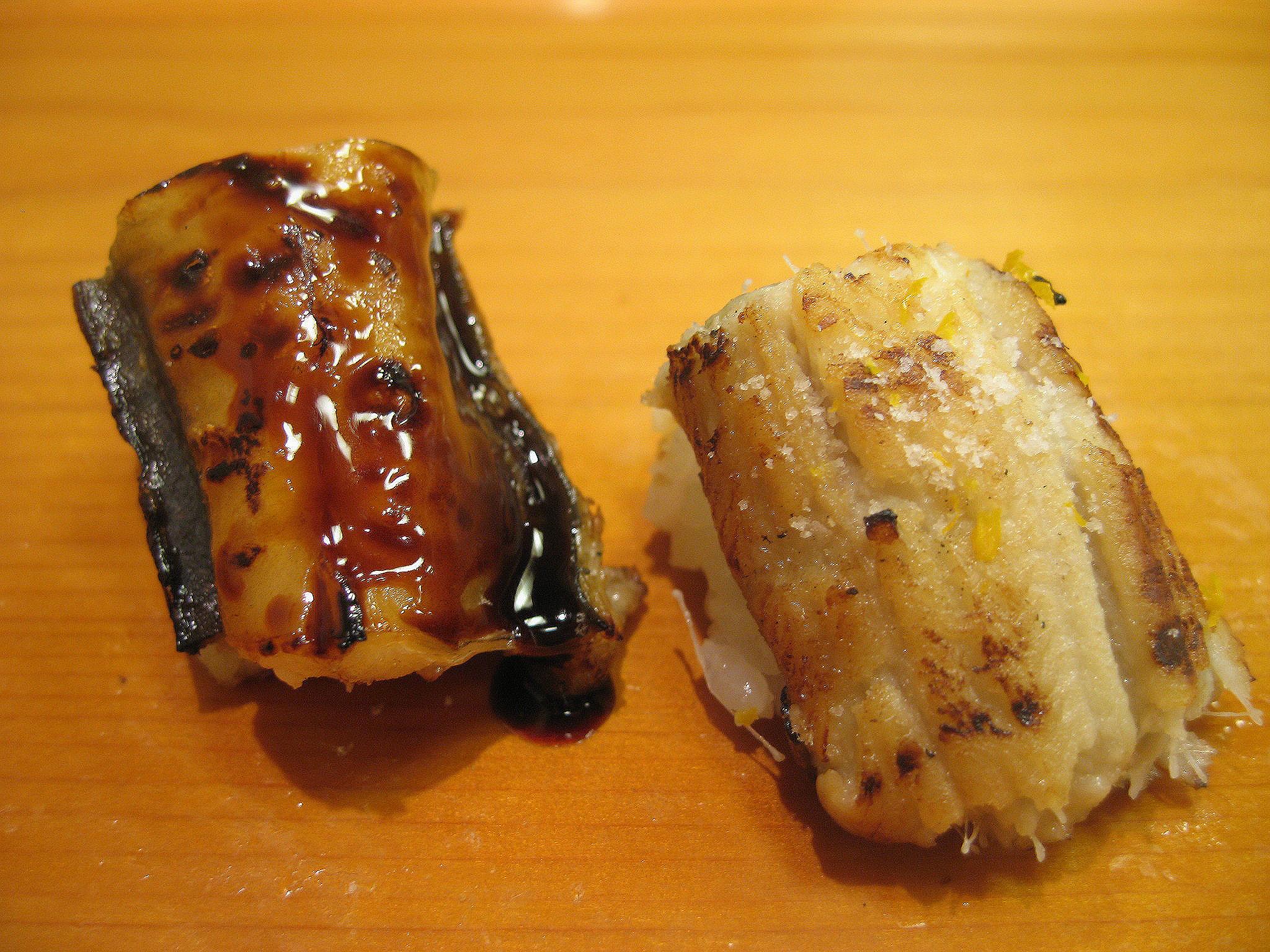 Kyubei, Ginza, Tokyo - Anago and Unagi
