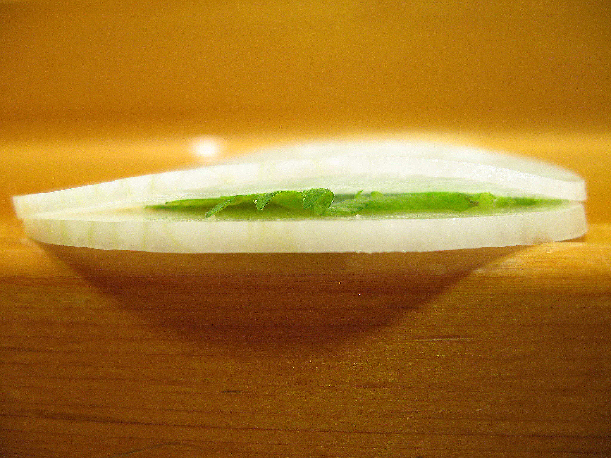 Kyubei, Ginza, Tokyo - White radish, shiso, and pickled plum paste with sesame